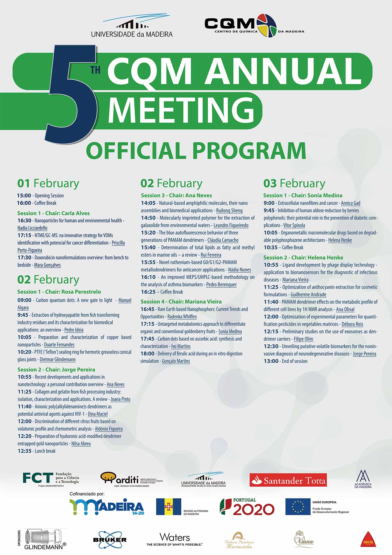 CQM's 5th Annual Meeting program poster.