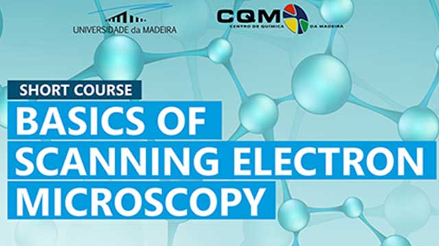 Basics of Scanning Electron Microscopy course poster header.