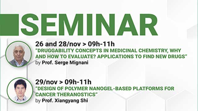 Program of the seminar with Professors Serge Mignani and Xiangyang Shi.