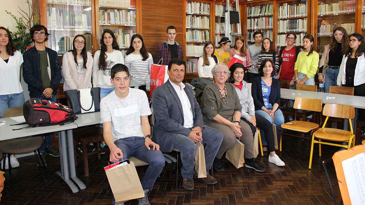 Participants and jury members of the poetry contest.