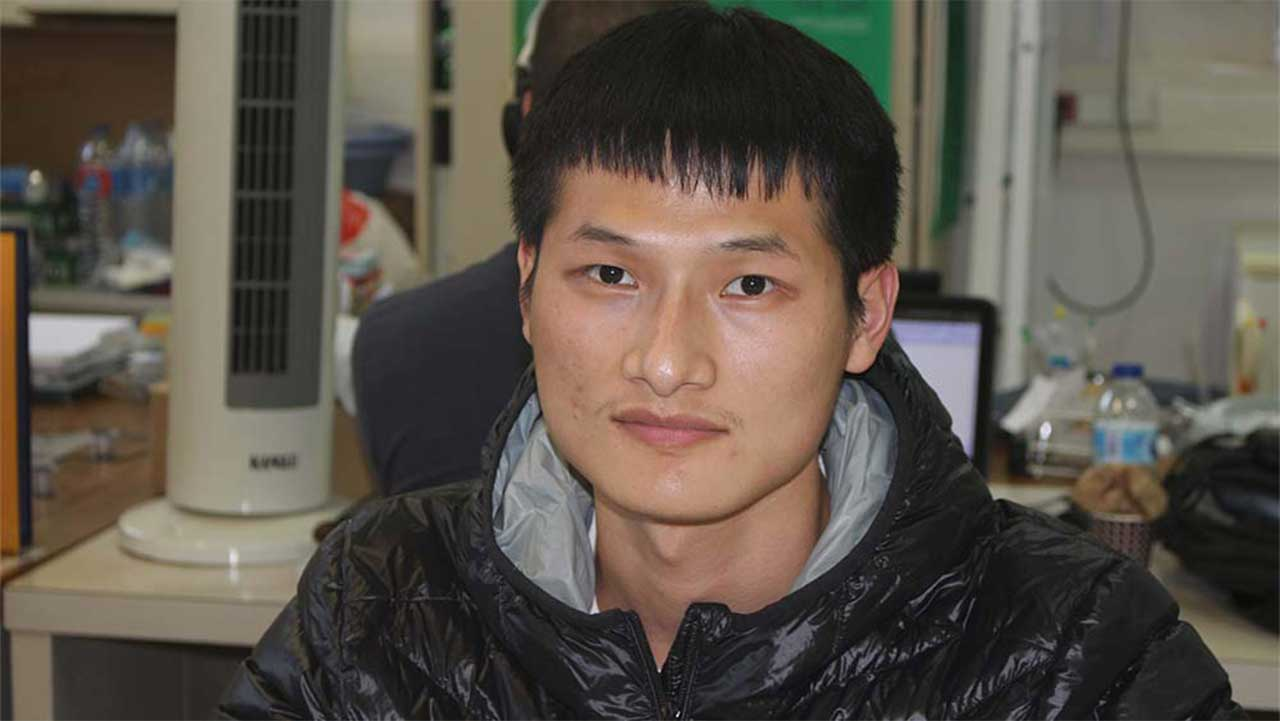 Jipeng Chen, CQM researcher from China.