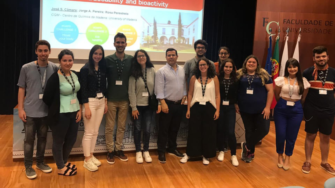 CQM researchers and students that participated in the 26th national meeting of the Portuguese Chemical Society.
