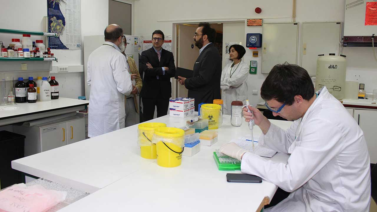 Representatives from the British embassy during their visit to CQM.