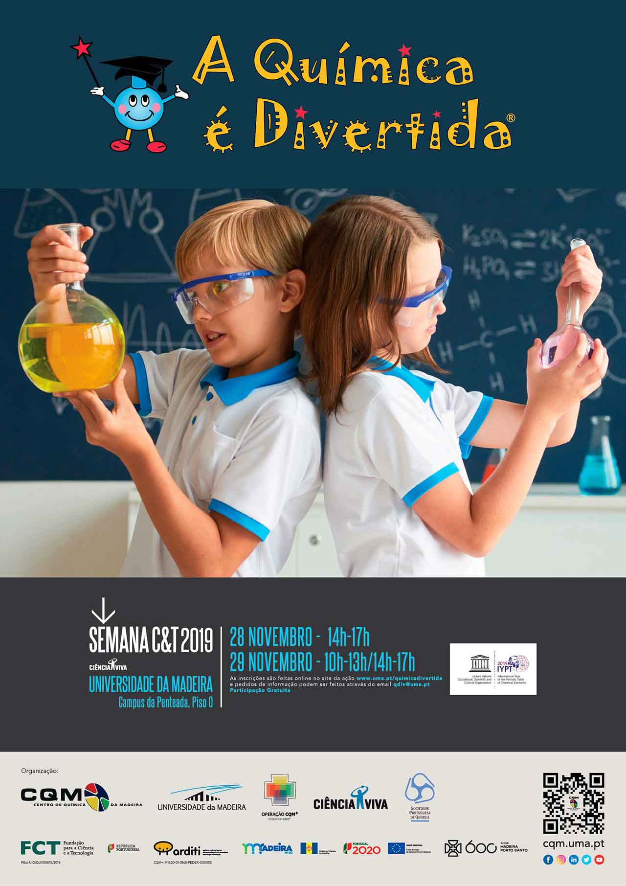 Chemistry is Fun 2019 event poster.