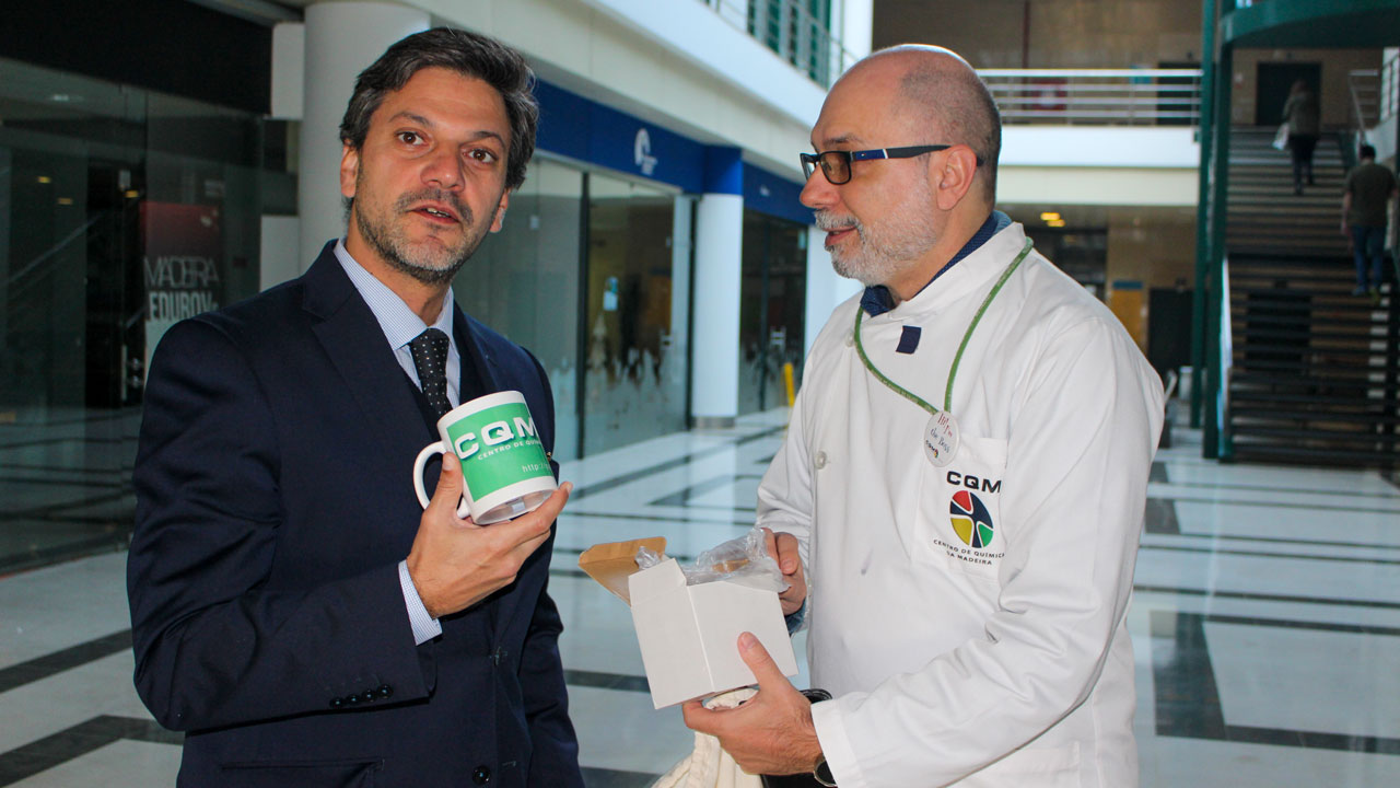 Dr. André Barreto and CQM's Scientific coordinator Professor João Rodrigues.