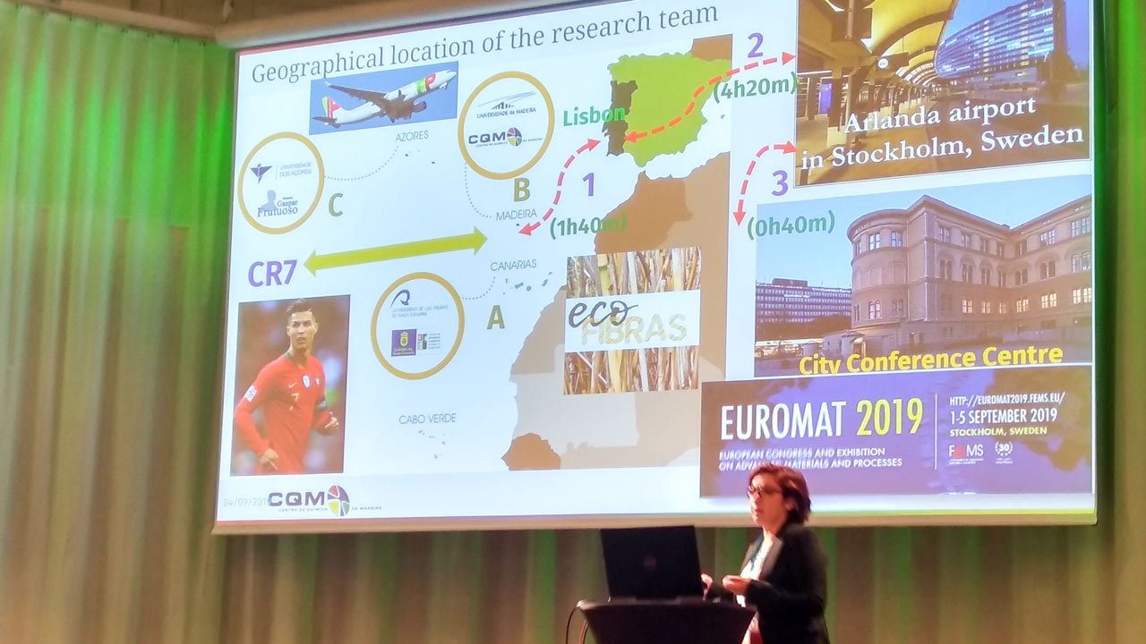 CQM researcher Dessy Pinto at EUROMAT 2019